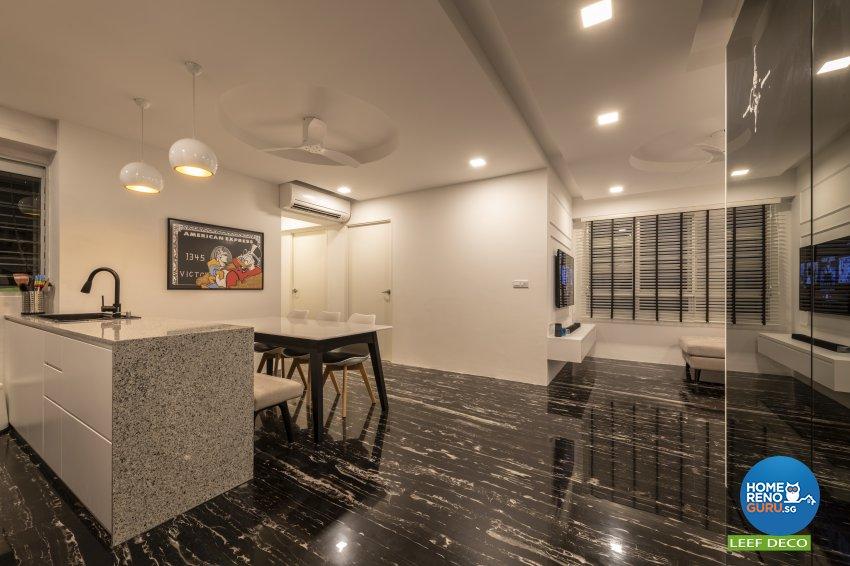 Contemporary, Modern, Scandinavian Design - Kitchen - HDB 4 Room - Design by Leef Deco Pte Ltd