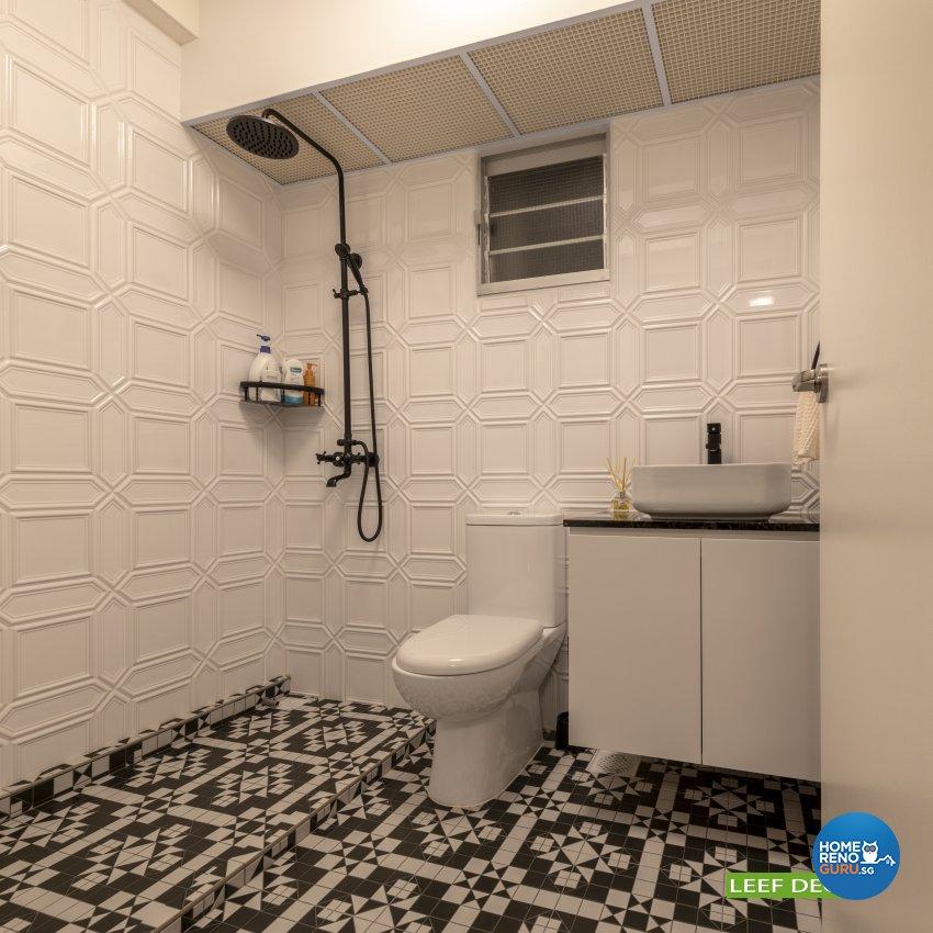 Contemporary, Modern, Scandinavian Design - Bathroom - HDB 4 Room - Design by Leef Deco Pte Ltd