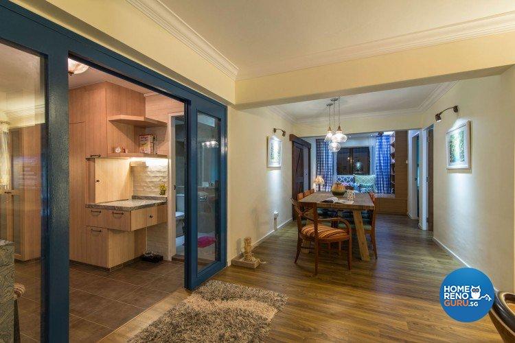 Country, Modern, Scandinavian Design - Living Room - HDB 5 Room - Design by Leef Deco Pte Ltd