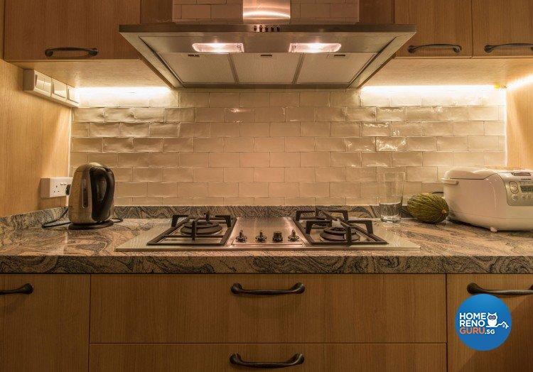 Country, Modern, Scandinavian Design - Kitchen - HDB 5 Room - Design by Leef Deco Pte Ltd