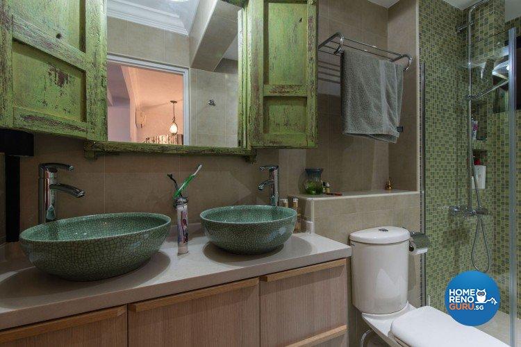 Country, Modern, Scandinavian Design - Bathroom - HDB 5 Room - Design by Leef Deco Pte Ltd