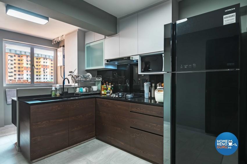 Modern Design - Kitchen - HDB 3 Room - Design by Leef Deco Pte Ltd