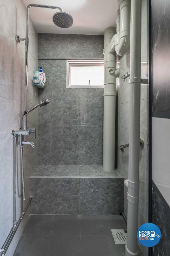 Design - Bathroom - HDB 3 Room - Design by Leef Deco Pte Ltd