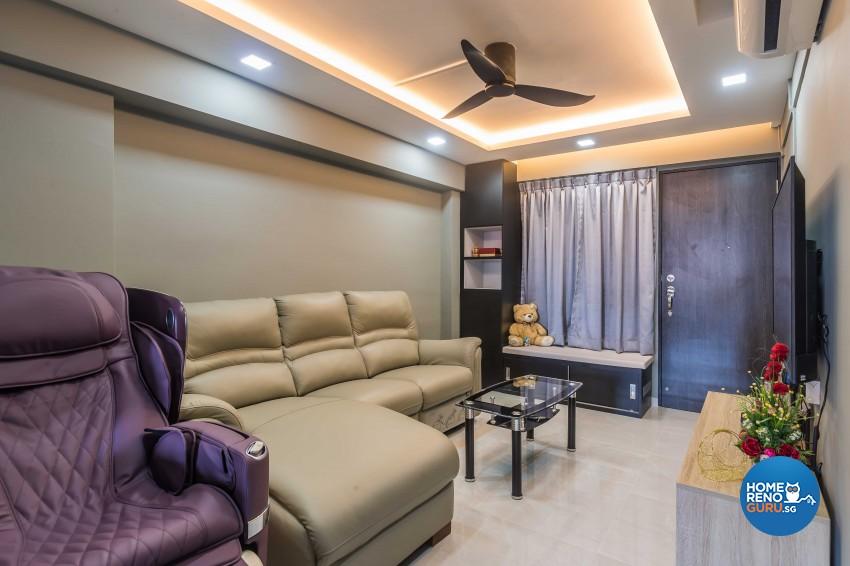 Modern Design - Living Room - HDB 3 Room - Design by Leef Deco Pte Ltd