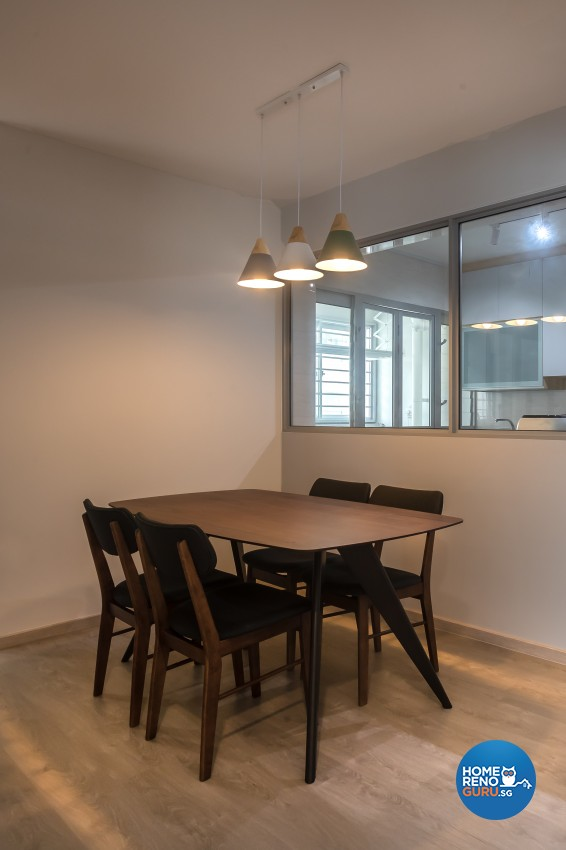Modern Design - Dining Room - HDB 4 Room - Design by Leef Deco Pte Ltd