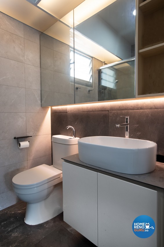 Modern Design - Bathroom - HDB 4 Room - Design by Leef Deco Pte Ltd