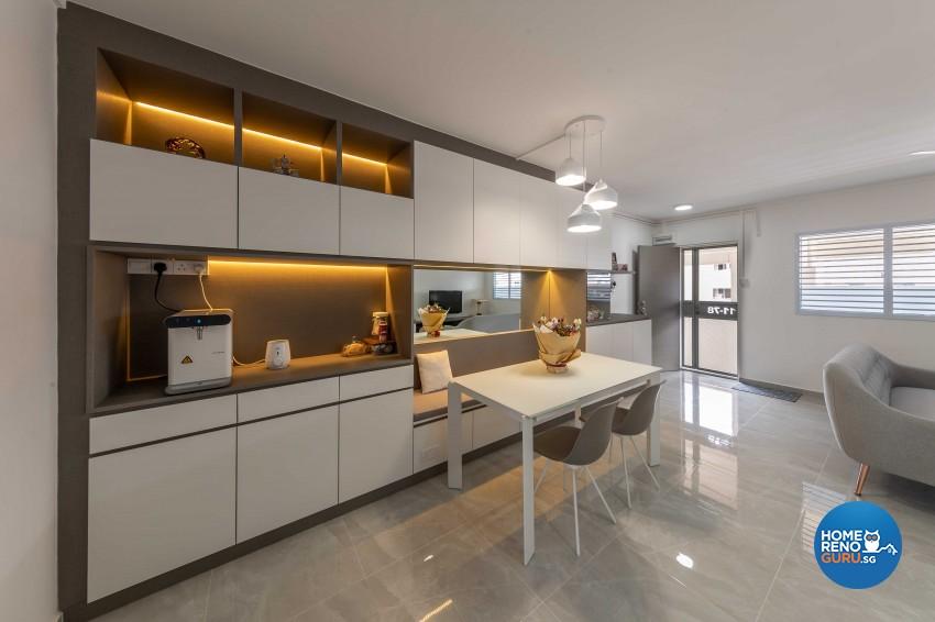 Modern Design - Dining Room - HDB 4 Room - Design by Leef Deco Pte Ltd