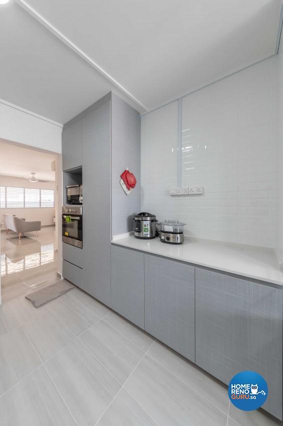 Modern Design - Kitchen - HDB 4 Room - Design by Leef Deco Pte Ltd