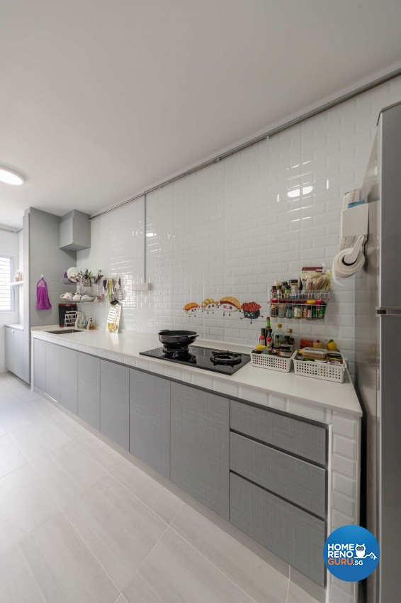 Modern Design - Kitchen - HDB 4 Room - Design by Leef Deco Pte Ltd