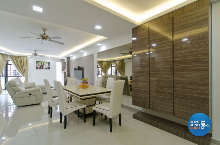 Contemporary, Modern Design - Dining Room - HDB 5 Room - Design by Leef Deco Pte Ltd