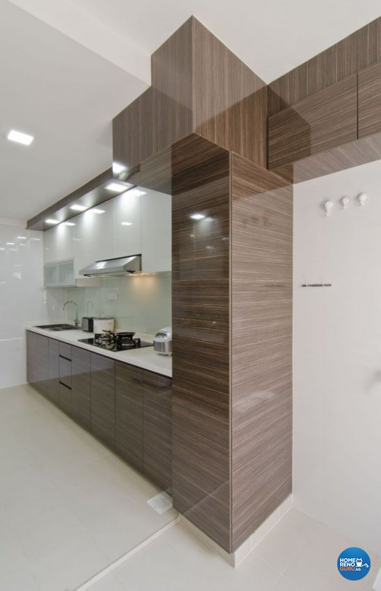Contemporary, Modern Design - Kitchen - HDB 5 Room - Design by Leef Deco Pte Ltd