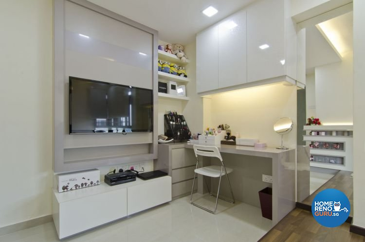 Contemporary, Modern Design - Study Room - HDB 5 Room - Design by Leef Deco Pte Ltd