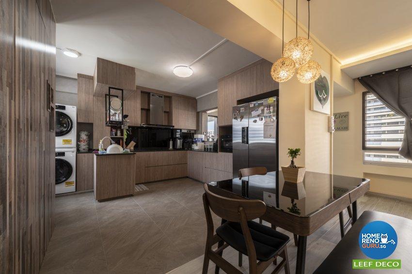 Contemporary, Modern Design - Dining Room - HDB 5 Room - Design by Leef Deco Pte Ltd