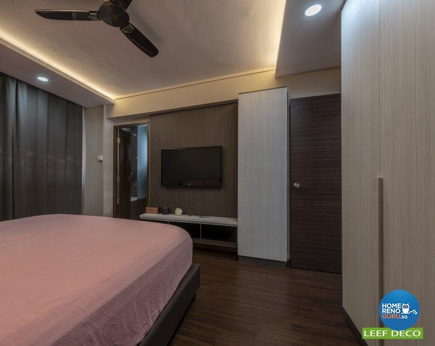 Contemporary, Modern Design - Bedroom - HDB 5 Room - Design by Leef Deco Pte Ltd