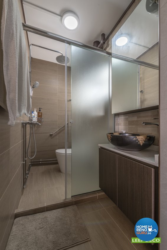 Contemporary, Modern Design - Bathroom - HDB 5 Room - Design by Leef Deco Pte Ltd