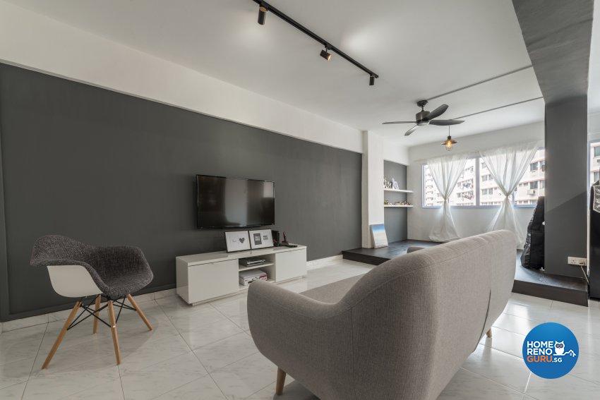 Contemporary, Modern Design - Living Room - HDB 5 Room - Design by Leef Deco Pte Ltd