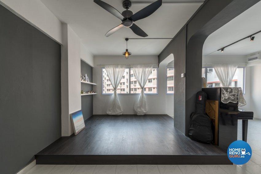 Contemporary, Modern Design - Entertainment Room - HDB 5 Room - Design by Leef Deco Pte Ltd