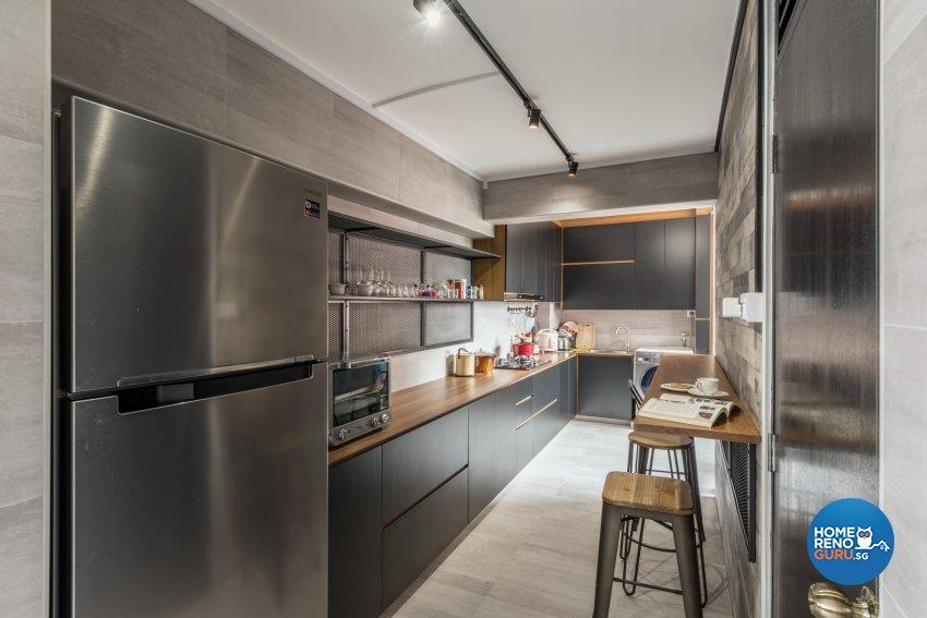 Contemporary, Modern Design - Kitchen - HDB 5 Room - Design by Leef Deco Pte Ltd