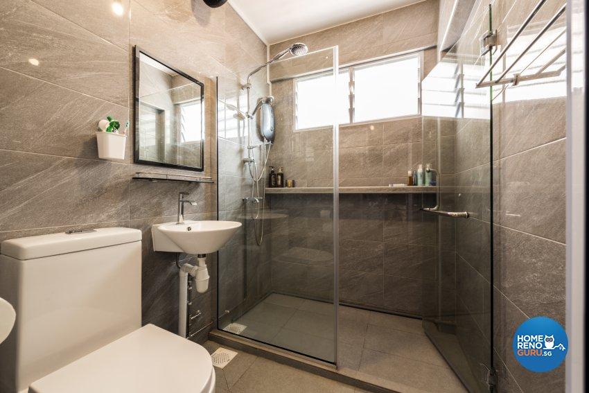 Contemporary, Modern Design - Bathroom - HDB 5 Room - Design by Leef Deco Pte Ltd