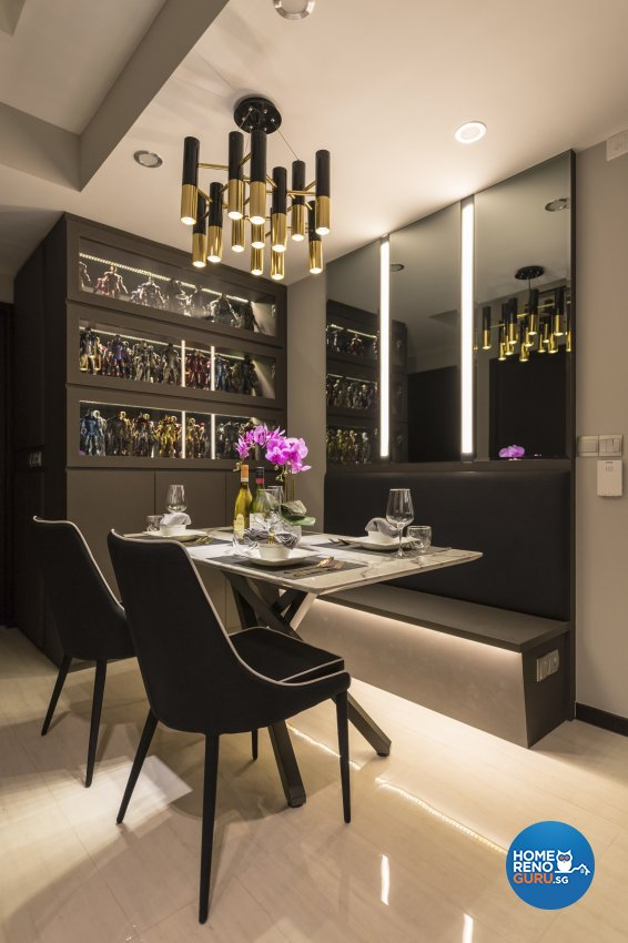 Modern, Vintage Design - Dining Room - Condominium - Design by Leef Deco Pte Ltd