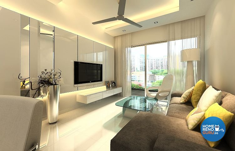 Beau Contemporary, Modern Design   Living Room   Condominium   Design By Living  Gaia
