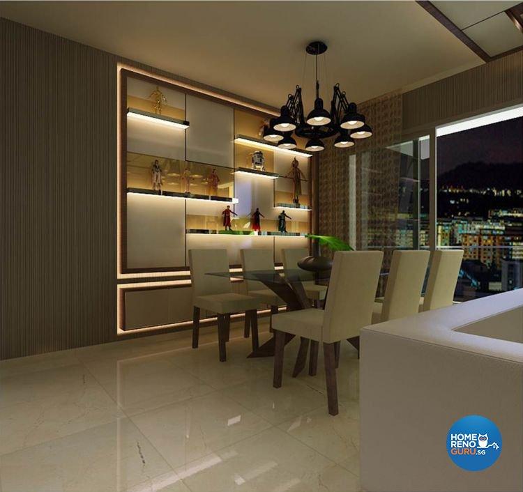Contemporary, Scandinavian Design - Dining Room - Condominium - Design by Living Gaia