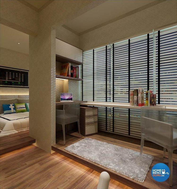 Singapore interior design gallery design details Dual purpose living room bedroom