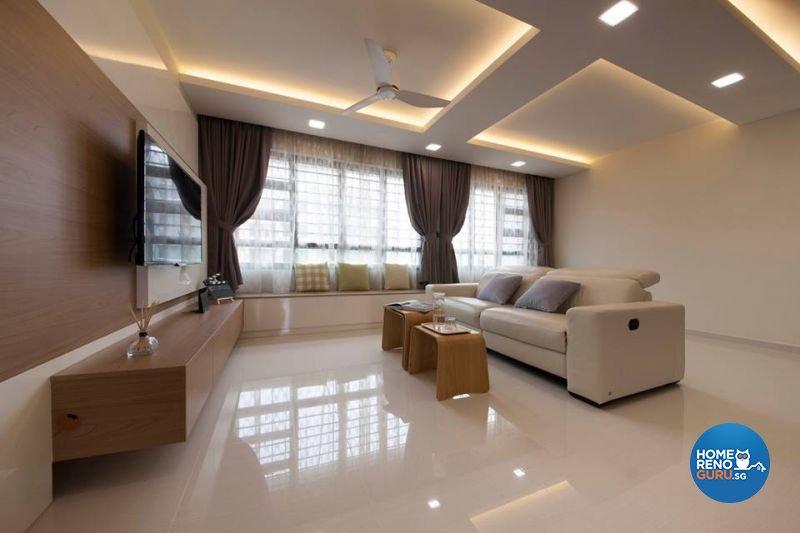 Contemporary, Minimalist, Scandinavian Design - Living Room - HDB 5 Room - Design by Living Gaia
