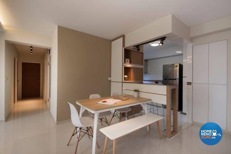 Contemporary, Minimalist, Scandinavian Design - Dining Room - HDB 5 Room - Design by Living Gaia