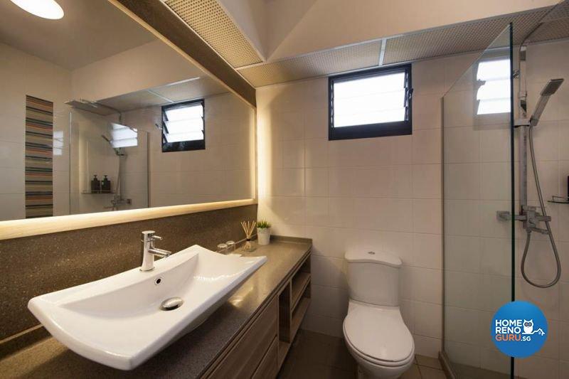 Contemporary, Minimalist, Scandinavian Design - Bathroom - HDB 5 Room - Design by Living Gaia