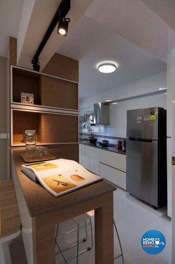 Contemporary, Minimalist, Scandinavian Design - Kitchen - HDB 5 Room - Design by Living Gaia