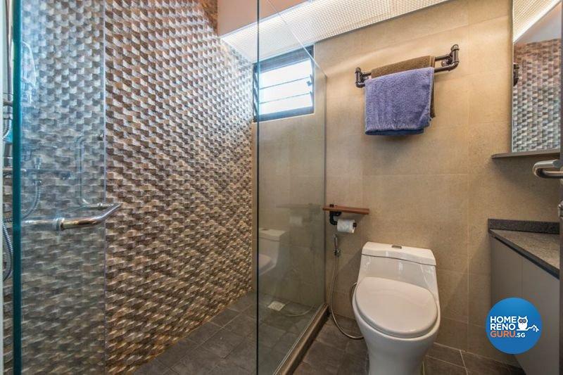 Industrial, Modern Design - Bathroom - HDB 5 Room - Design by Living Gaia