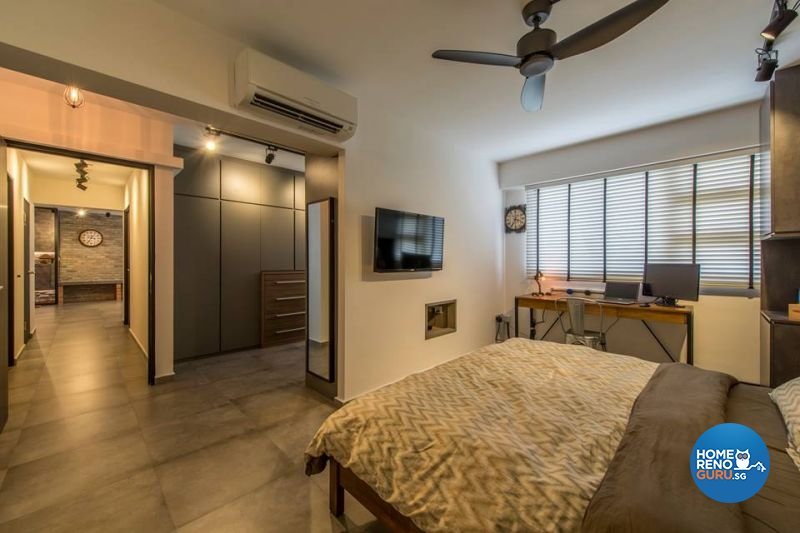 Industrial, Modern Design - Bedroom - HDB 5 Room - Design by Living Gaia
