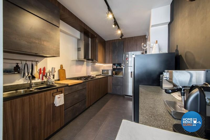 Industrial, Modern Design - Kitchen - HDB 5 Room - Design by Living Gaia