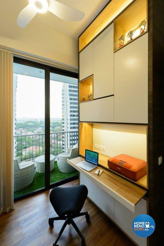 Contemporary, Modern Design - Study Room - Condominium - Design by Living Gaia