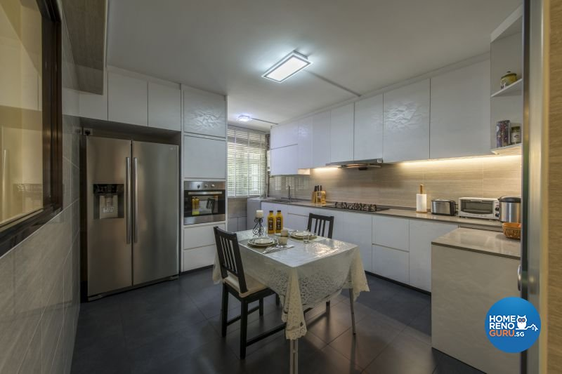 Resort, Tropical Design - Kitchen - HDB Executive Apartment - Design by Living Gaia