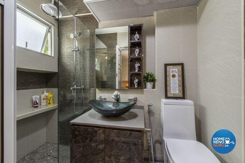 Resort, Tropical Design - Bathroom - HDB Executive Apartment - Design by Living Gaia
