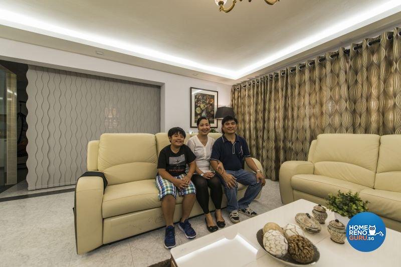 Resort, Tropical Design - Living Room - HDB Executive Apartment - Design by Living Gaia