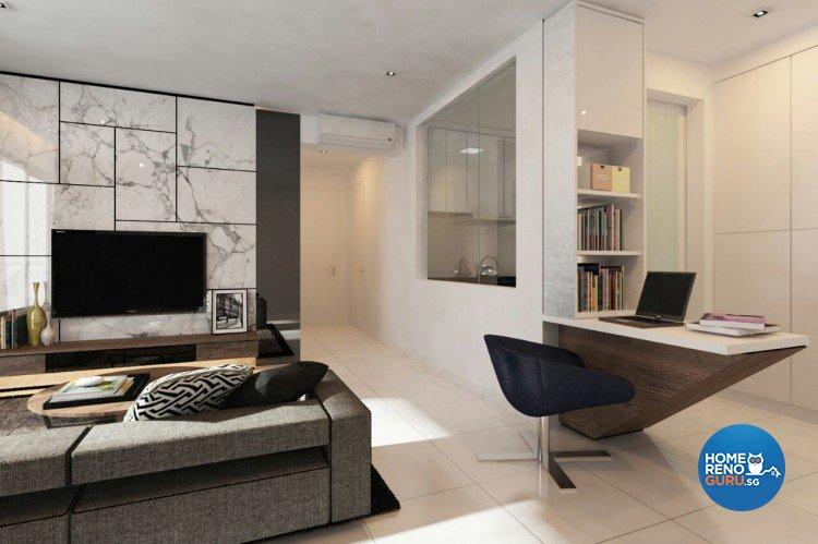 Contemporary, Minimalist Design - Living Room - Condominium - Design by Livinz Synthesis Pte Ltd