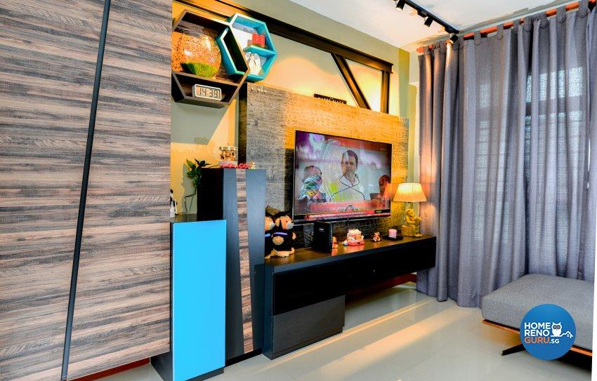 Modern, Rustic Design - Living Room - HDB 4 Room - Design by LOME Interior