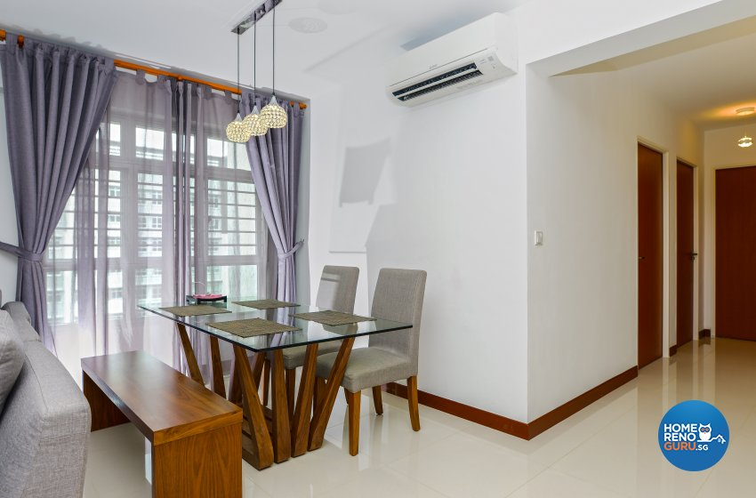 Modern, Rustic Design - Dining Room - HDB 4 Room - Design by LOME Interior