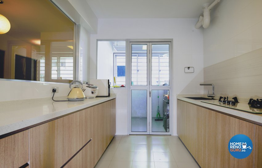 Modern, Rustic Design - Kitchen - HDB 4 Room - Design by LOME Interior