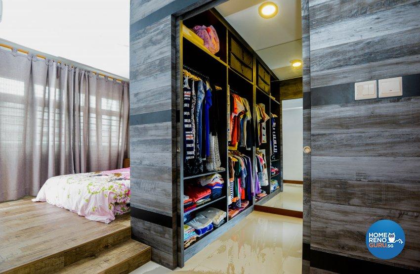 Modern, Rustic Design - Bedroom - HDB 4 Room - Design by LOME Interior