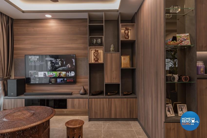 Contemporary, Mediterranean, Resort Design - Living Room - HDB 4 Room - Design by LOME Interior