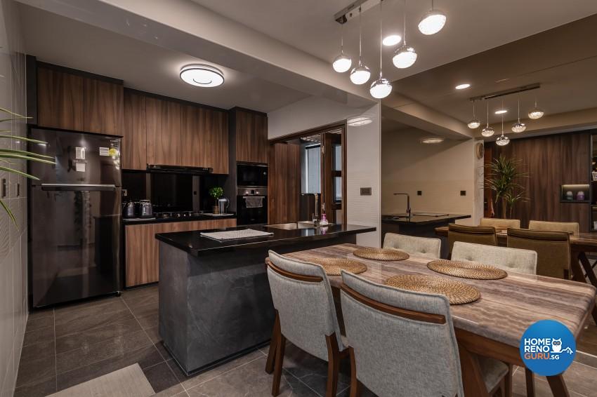 Contemporary, Mediterranean, Resort Design - Dining Room - HDB 4 Room - Design by LOME Interior