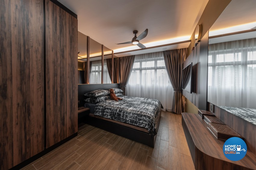 Contemporary, Mediterranean, Resort Design - Bedroom - HDB 4 Room - Design by LOME Interior