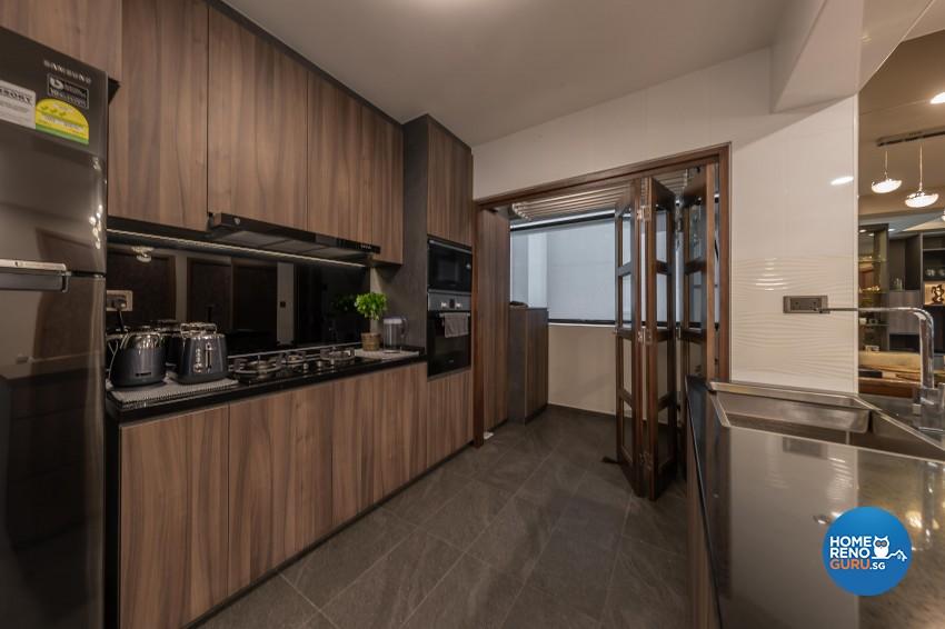 Contemporary, Mediterranean, Resort Design - Kitchen - HDB 4 Room - Design by LOME Interior