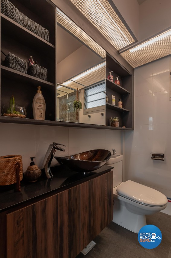 Contemporary, Mediterranean, Resort Design - Bathroom - HDB 4 Room - Design by LOME Interior