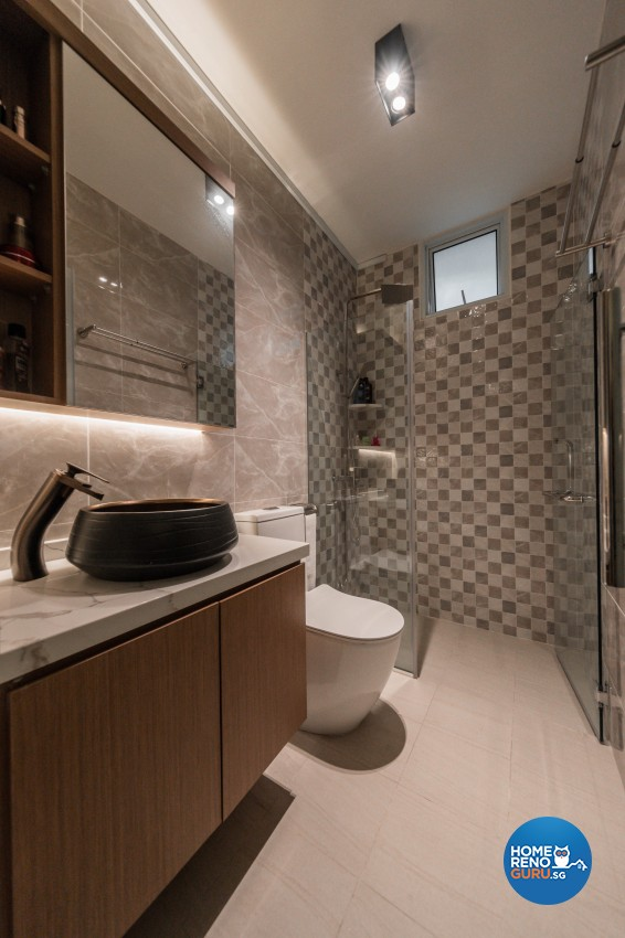 Modern, Oriental Design - Bathroom - HDB 5 Room - Design by LOME Interior