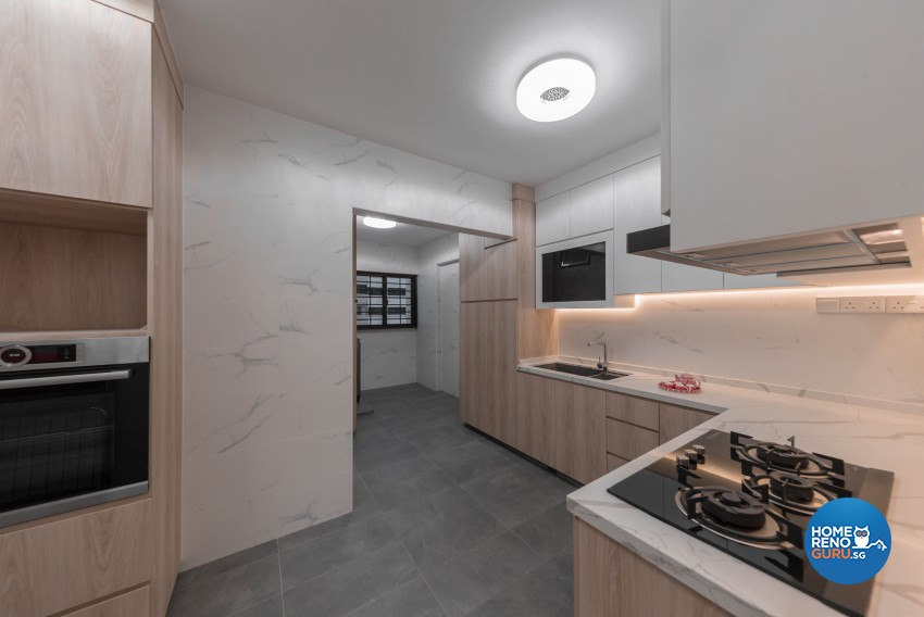 Modern, Oriental Design - Kitchen - HDB 5 Room - Design by LOME Interior